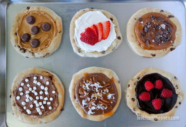 Easy dessert pizzas