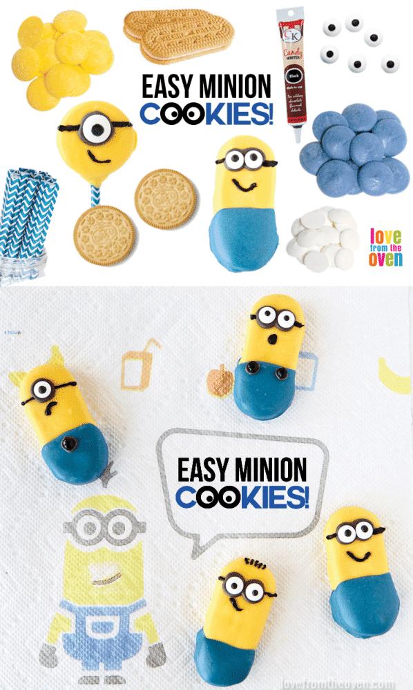 Easy No-Bake Minion Cookies