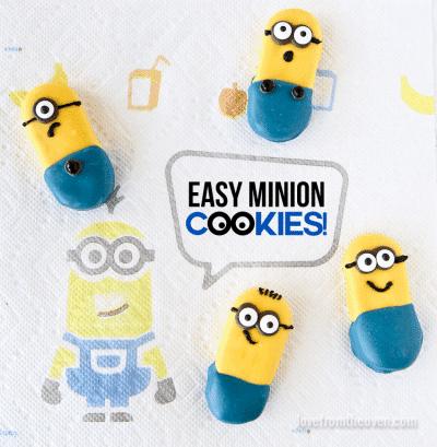 Cute Minion Cookies