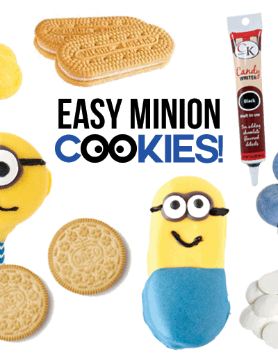 Easy No Bake Minion Cookies