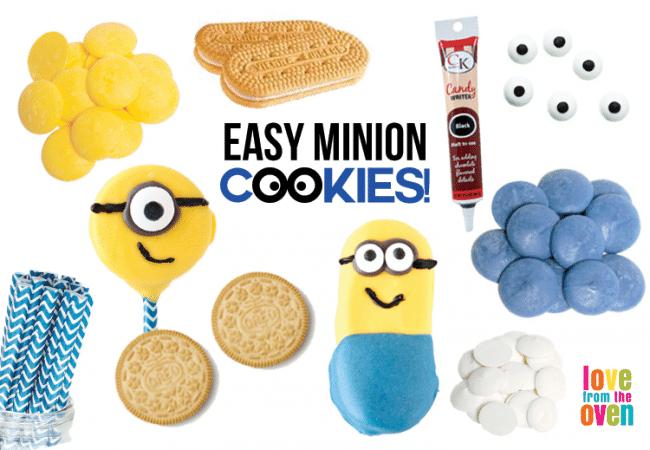 Easy No Bake Minion Cookies
