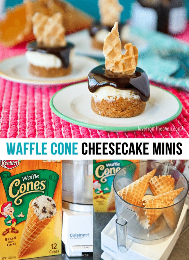 Waffle Cone Cheesecakes