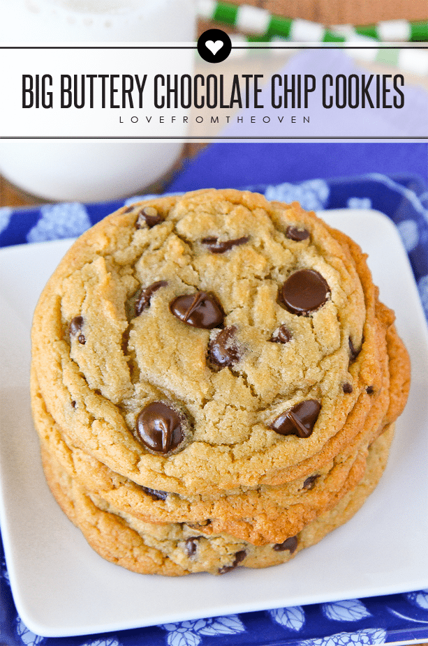Big Buttery Chewy Chocolate Chip Cookie Recipe