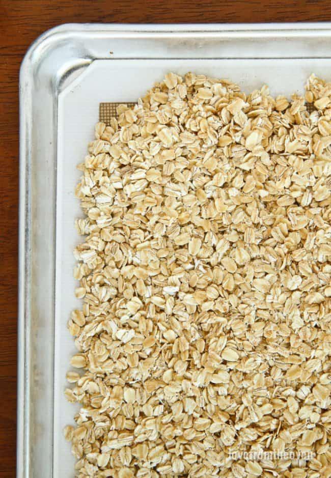Granola on a tray
