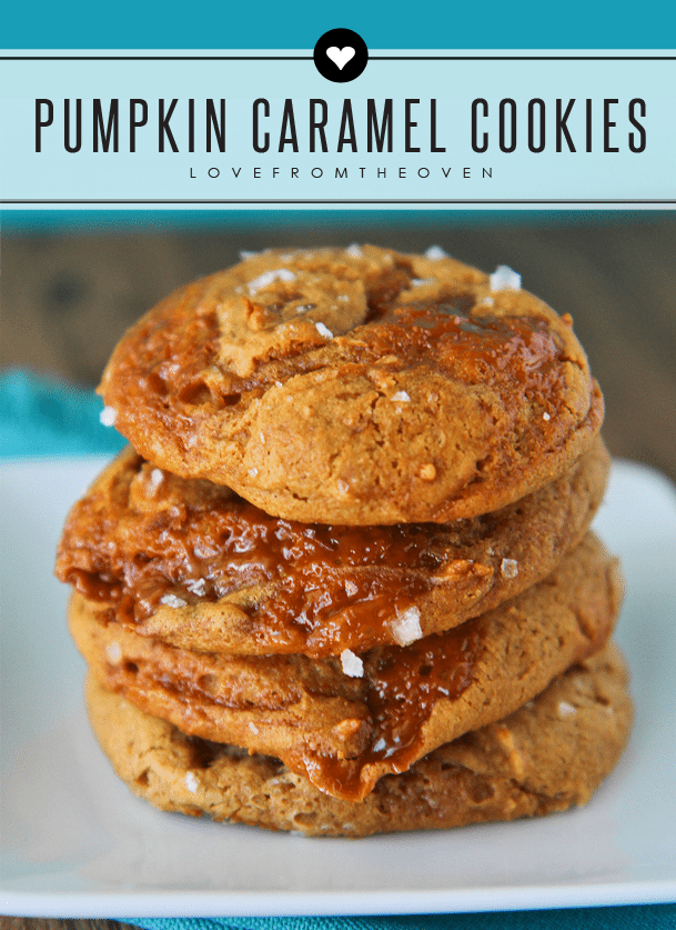 Pumpkin Caramel Cookies Topped With Sea Salt