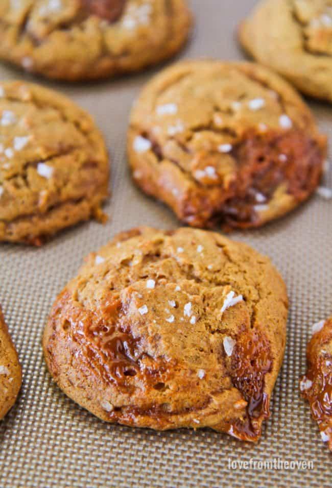Pumpkin Caramel Cookies