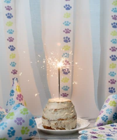 Grain Free Dog Birthday Cake