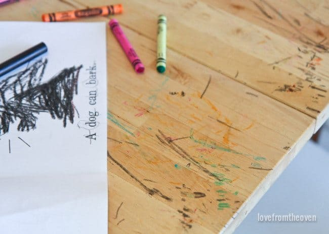 How To Clean Up Crayon Marks