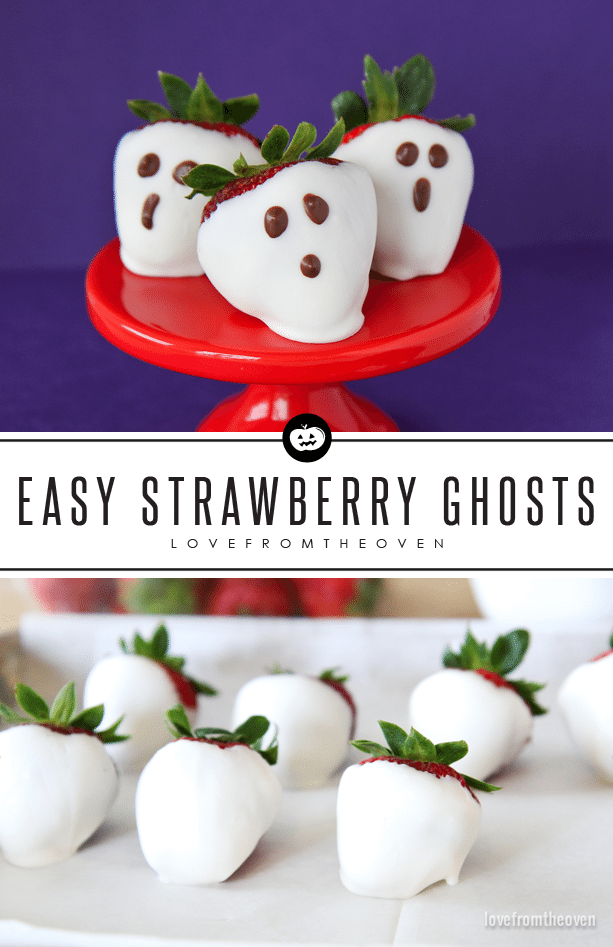 Easy Chocolate Dipped Strawberry Ghosts For Halloween