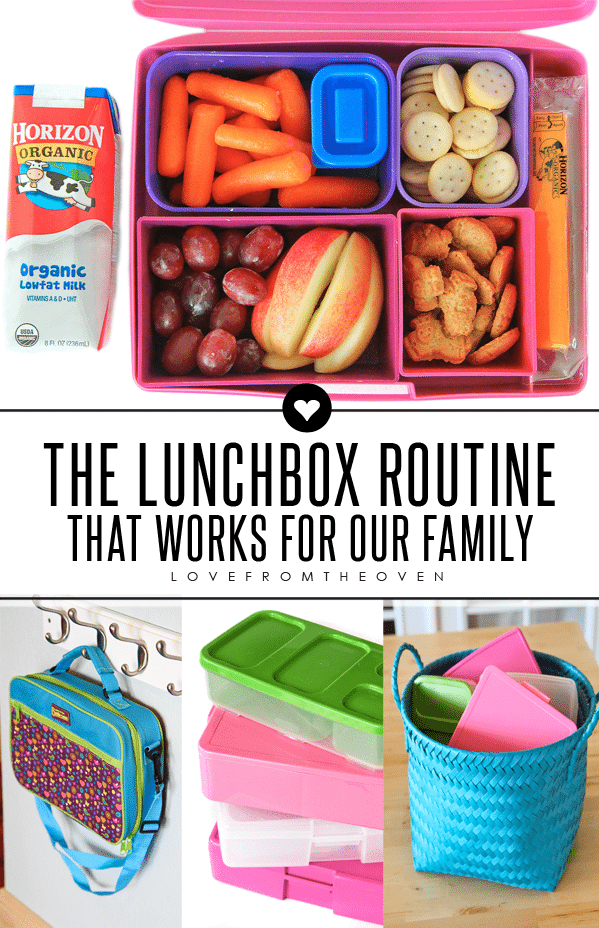 The lunchbox routine that works for our family.  The kids love their lunches and packing is kept simple for me.