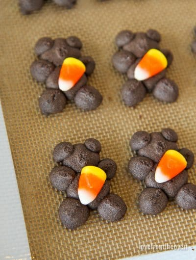 Candy Corn Spritz Cookies