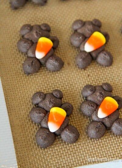 Candy Corn Spritz Cookies