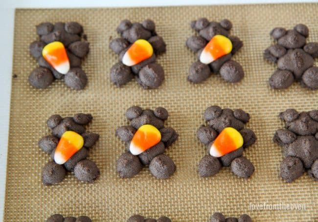 Chocolate Spritz Cookies For Halloween