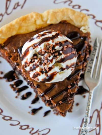 Easy Brownie Pie