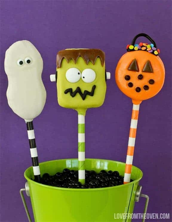 Easy Halloween Cookie Pops