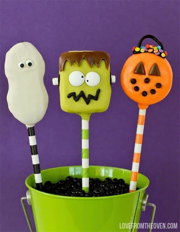 Easy Halloween Cookie Pops