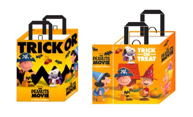 Peanuts Trick Or Treat Bags At Albertsons and Safeway