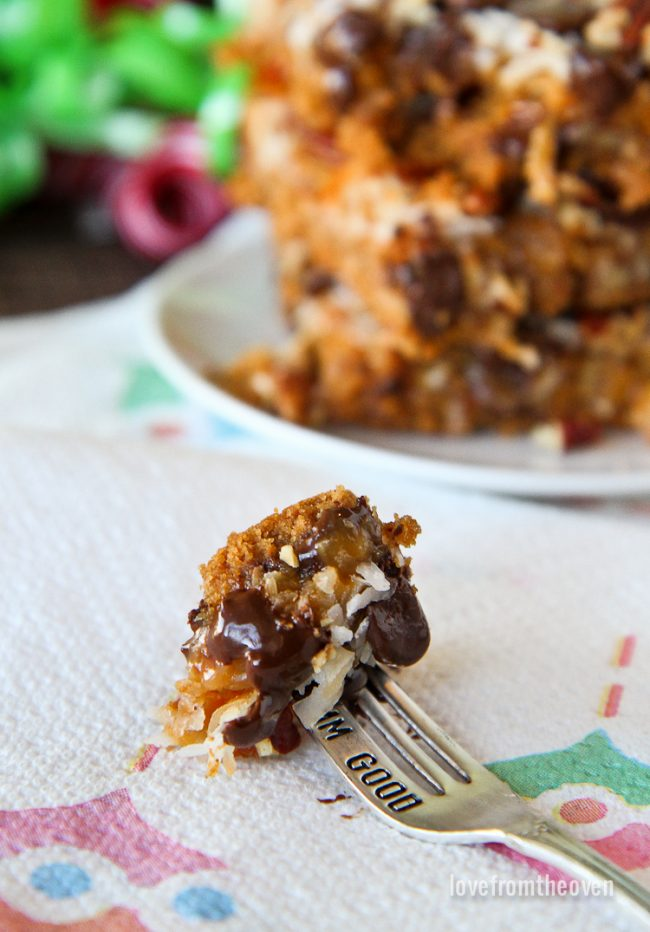 Caramel Magic Cookie Bar Recipe