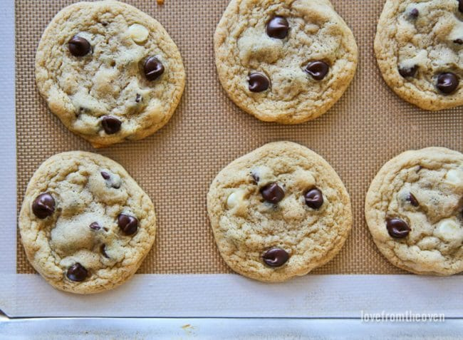 Dark And White Chocolate Chip Cookies