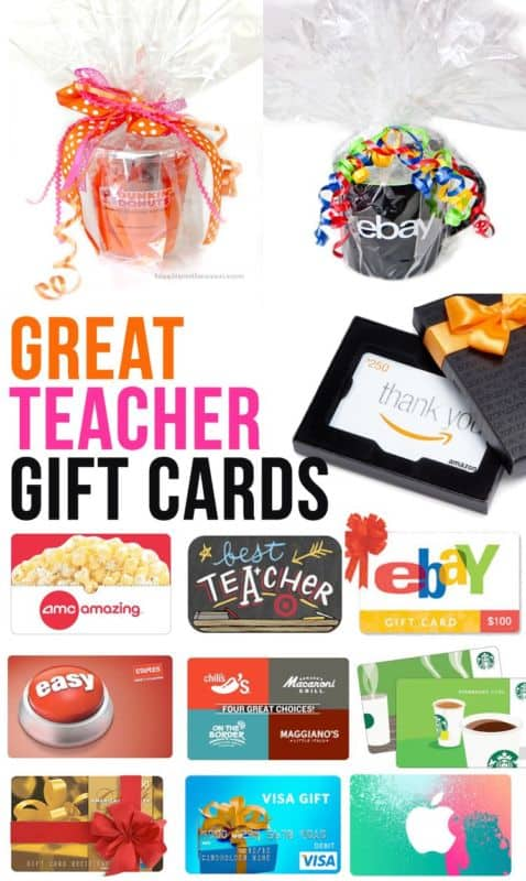 Gift Cards For Teachers