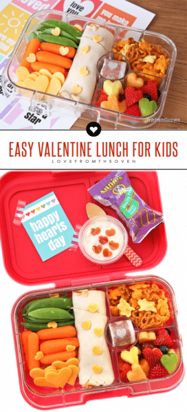 Easy Bento Valentine's Day Lunch For Kids