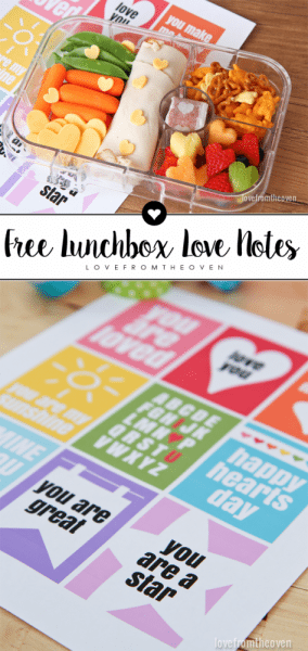 Free Lunchbox Love Notes Printables