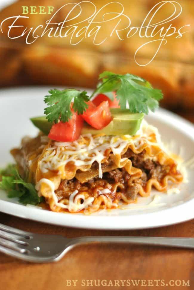 Beef Enchilada Roll Ups