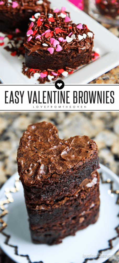Easy Valentine Brownies. Totally transform box brownies with a few easy tricks.