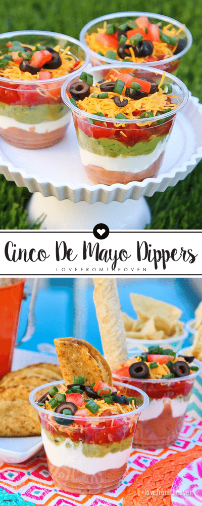 Cinco De Mayo Dippers - A Fun Twist On Seven Layer Dip