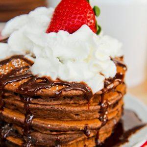 Easy Chocolate Pancakes