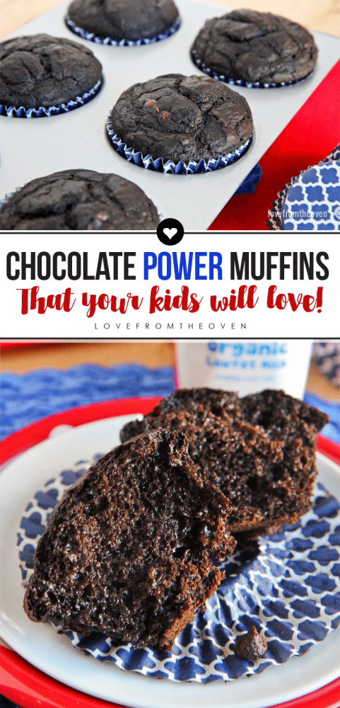 Chocolate Power Muffins That Your Kids Will Love #backtoschool