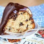 Chocolate-Glazed Chocolate Chip Pound Cake