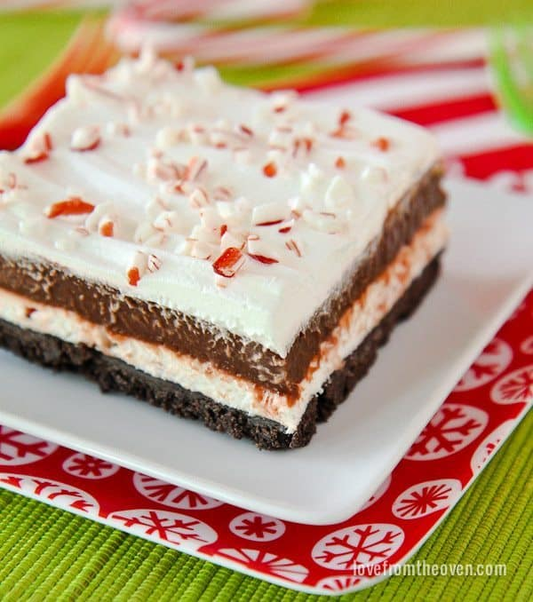 Chocolate Peppermint Striped Delight