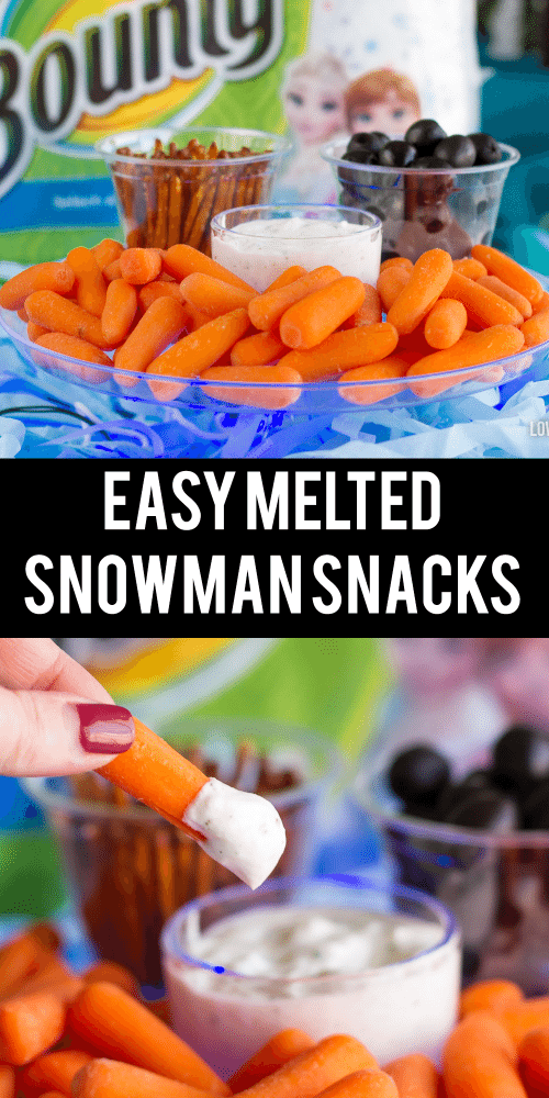 Easy Olaf Melted Snowman Snacks Great For A Frozen Party