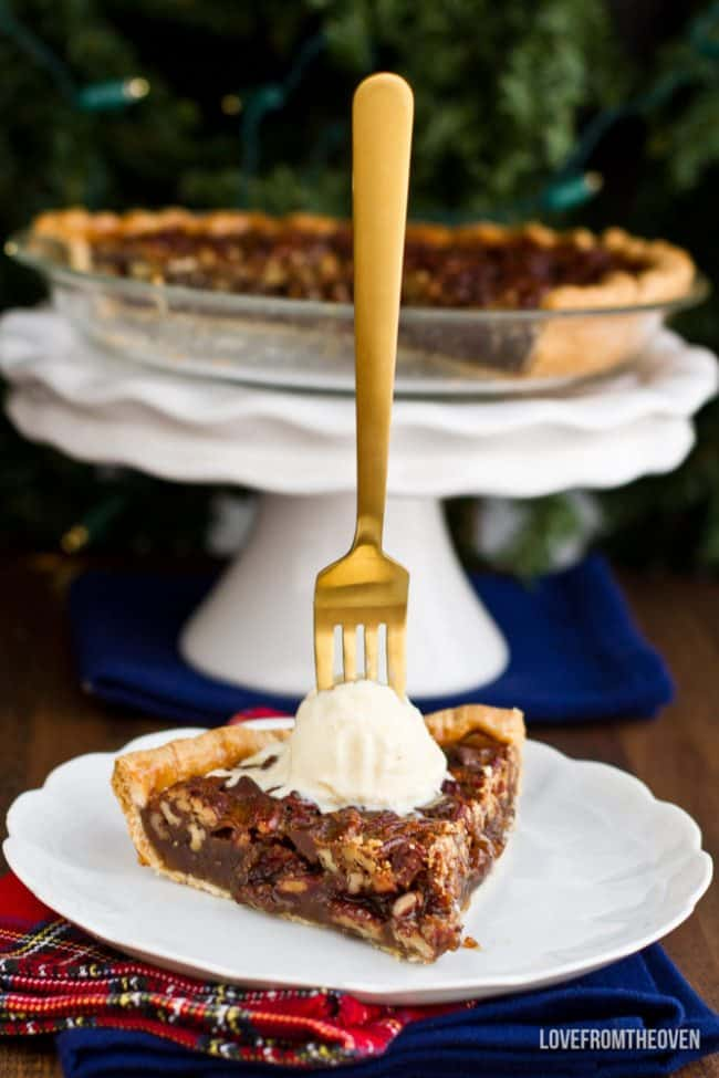 Recipe for pecan pie without corn syrup