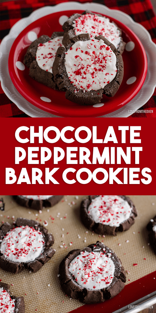 Chocolate peppermint bark Christmas cookies