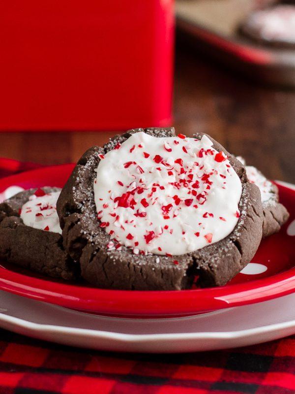 Peppermint Bark Christmas Cookies