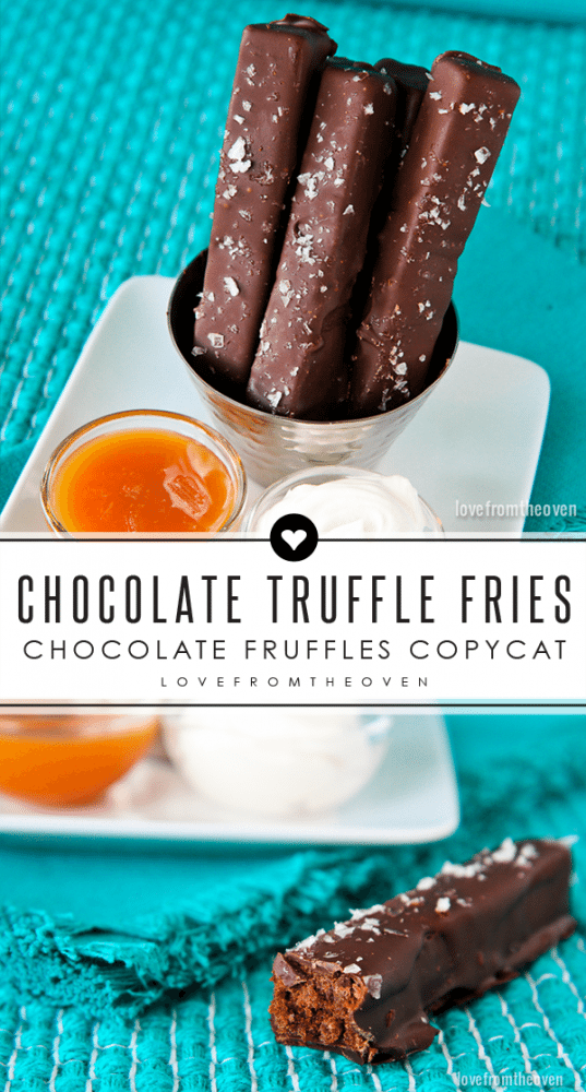 Chocolate Fruffles Brownie Truffle Fries Recipe