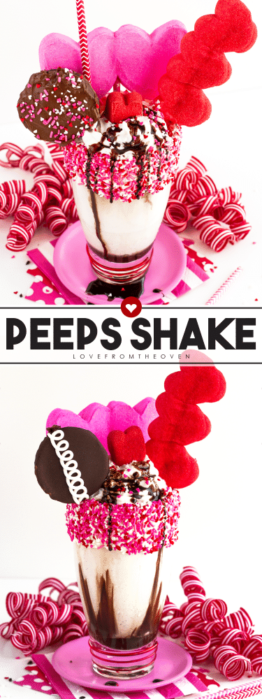 Valentine's Day Peeps Shake Inspired By Black Tap Milkshakes and Freak Shakes
