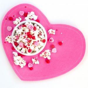 Cinnamon Sweetheart Valentine Popcorn