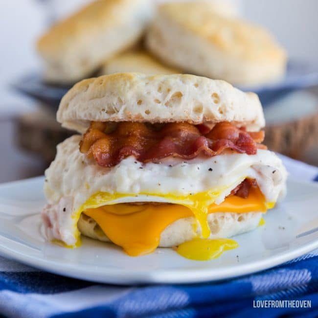 Biscuit And Gravy Sandwich