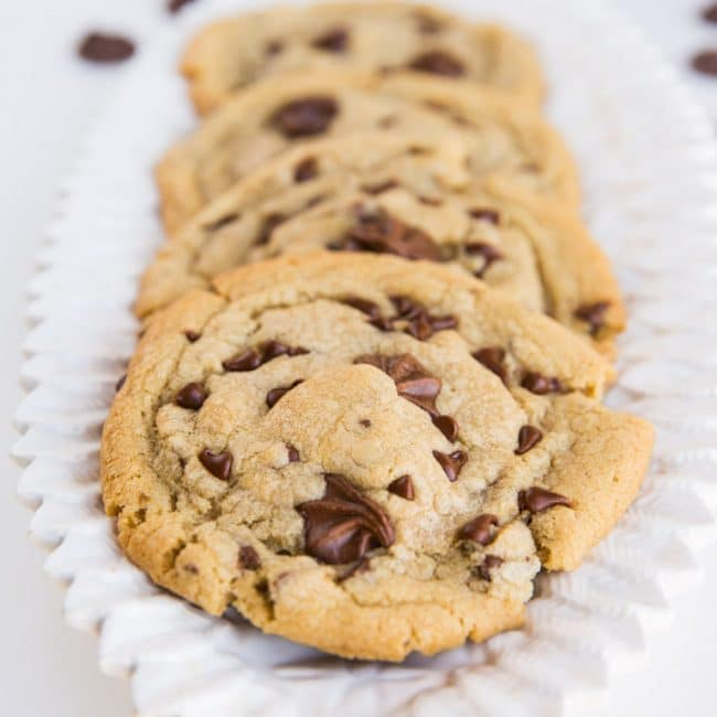 Recipe for chewy chocolate chip cookies