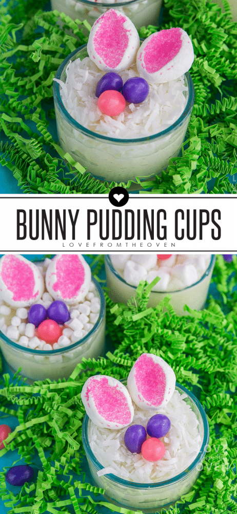Easy Easter Bunny Pudding Cups