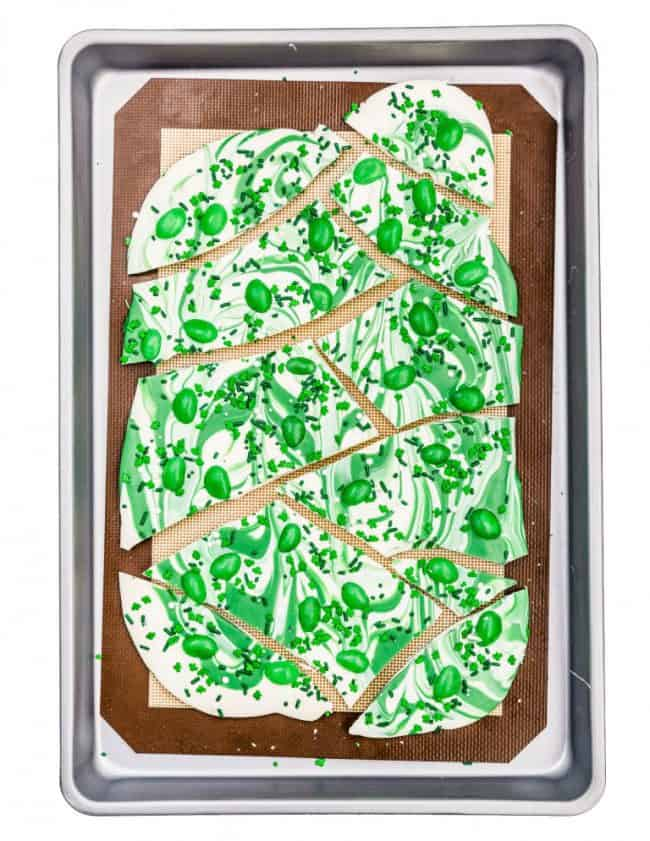 Jelly Bean Bark for St. Patrick's Day