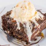 Warm Chocolate Caramel Cake
