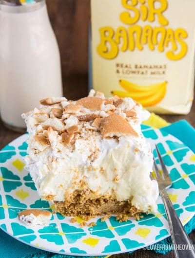 No Bake Banana Cream Pie Bars