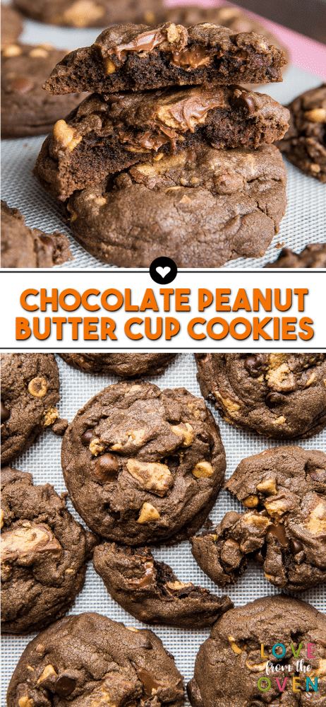 The Best Chocolate Peanut Butter Cup Cookies
