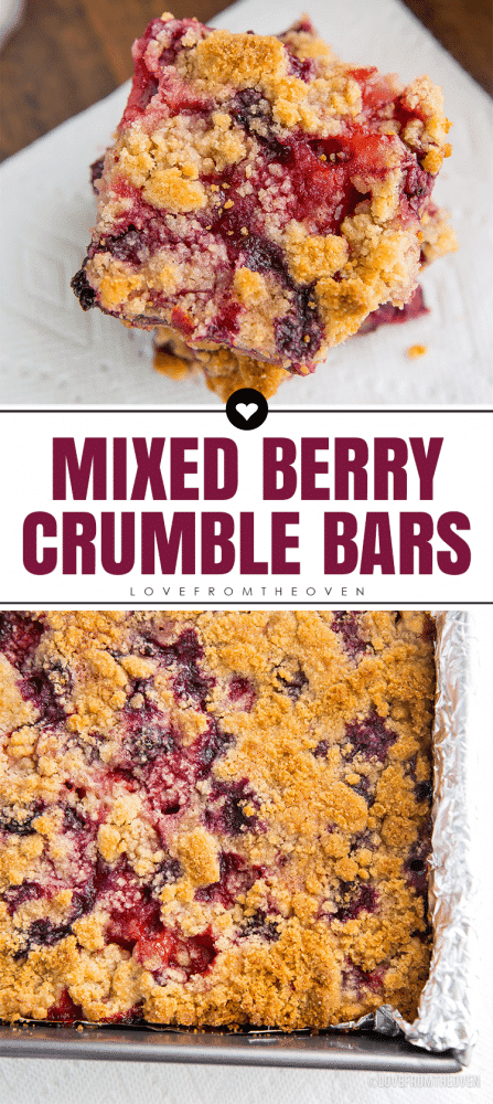 Mixed Berry Crumble Bars Recipe