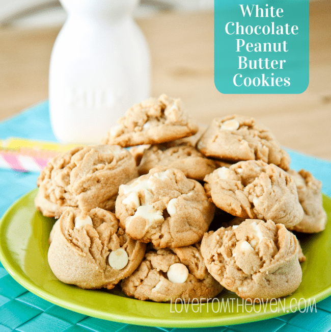 White Chocolate Peanut Butter Cup Cookies