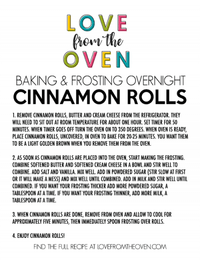 Overnight Cinnamon Roll Recipe